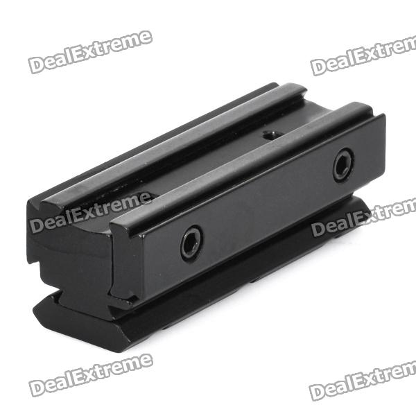 11mm to 21mm Gun Rail Dovetail Adapter - BlackGun Mounts/Rails<br>Form  ColorBlackMaterial:Packing List<br>