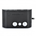 Dual-USB Port Desktop Power Button Switch Module for PC - Black