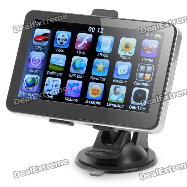 """5.0"""" WinCE 6.0 600MHz Touch GPS Navigator FM/E-book/Game/SD/Built-in 4GB USA Map"""