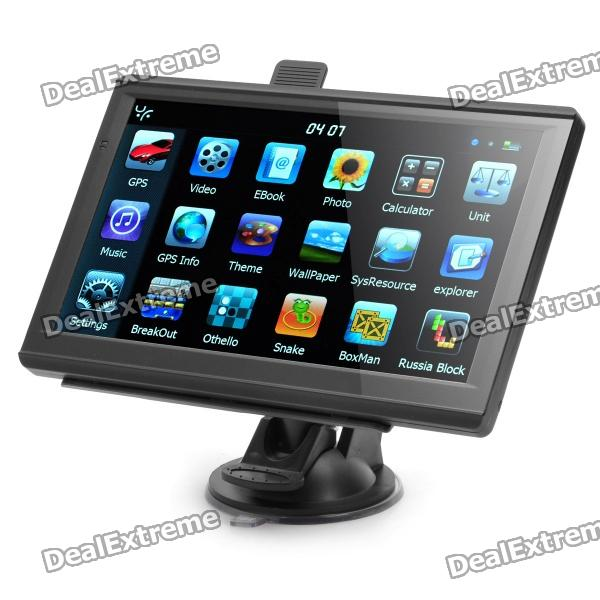 """7.0"""" WinCE 6.0 GPS Navigator MP3 MP4 Player/FM/Game/E-book + Built-in 4GB USA Maps"""