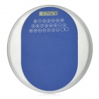 "2-in-1 1.8"" LCD Round 8-Digit Calculator + Mouse Mat Pad - Blue + Silver (1 x AG10)"