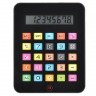 "2-in-1 5.0"" LCD iPad Style 8-Digit Calculator + Mouse Mat Pad - Black (1 x AG10)"