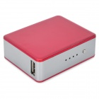 Rechargeable 4800mAh Emergency Mobile Power Battery Pack with 2 Adapters - Red + Silver