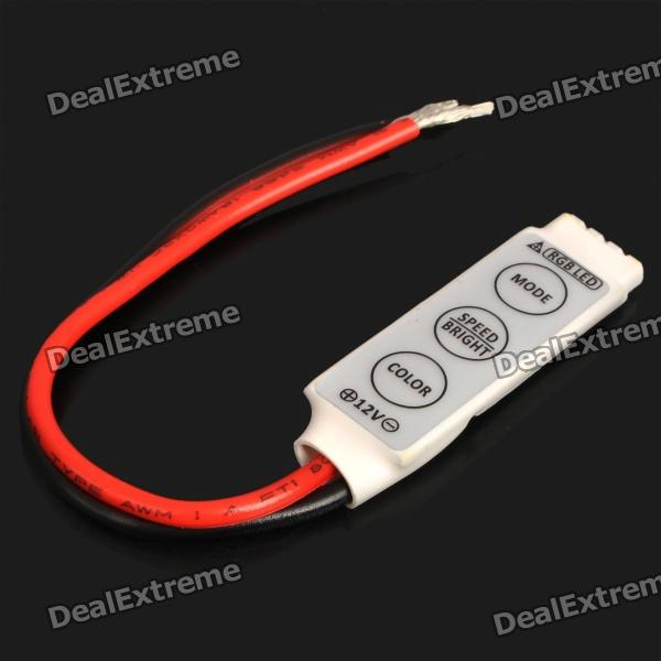 3-Key Controller for 5050/3528 RGB LED Light Strip (DC 12V)