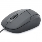 Fashion USB 1.1 1000DPI Optical Wired Mouse - Black