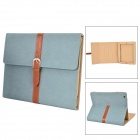 Stylish PU Leather Case for iPad 2 - Blue
