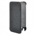 Protective Leather Flip Cover Plastic Case for Samsung Galaxy Note i9220 - Black