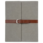 Stylish PU Leather Case for Ipad 2 - Grey