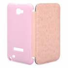 Protective Leather Flip Cover Plastic Case for Samsung Galaxy Note i9220 - Pink