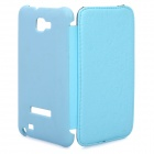 Protective Leather Flip Cover Plastic Case for Samsung Galaxy Note i9220 - Blue