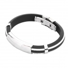 Stainless Steel Pressure Reduction Magnetic Bracelets Bangles - Black + White