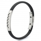 Sports Anion Energy Bracelet Wristband - Black + Silver