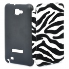 Protective Leather Flip Cover Plastic Case for Samsung Galaxy Note i9220 - White + Black