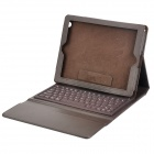 Wireless Bluetooth V3.0 76-Key QWERTY Keyboard w/ PU Leather Case for New Ipad - Coffee