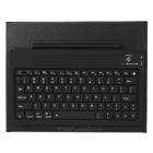 Wireless Bluetooth V3.0 76-Key QWERTY Keyboard w/ PU Leather Case for New Ipad - Black