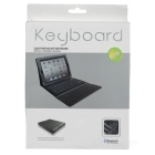 V3.0 Bluetooth Wireless Keyboard QWERTY 76-Key w / Capa de Couro PU para Novo Ipad - Preto