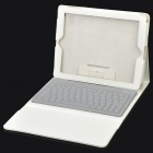 Bluetooth V3.0 Wireless 78-Key Keyboard w/ Protective PU Leather Case for   New Ipad - White