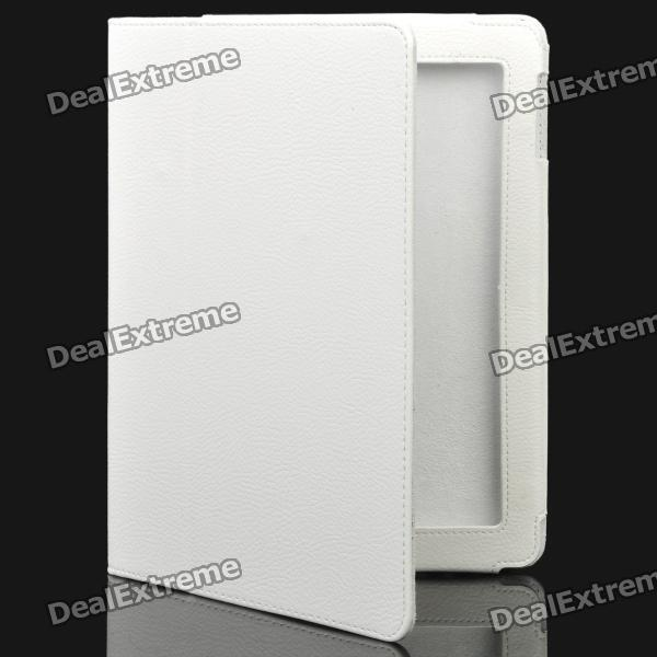 Stylish Protective Holder Leather Case for The New Ipad - White