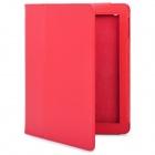 Stylish Protective Holder Leather Case for The New iPad - Red