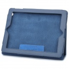 Stylish Protective Holder Leather Case for The New Ipad - Blue