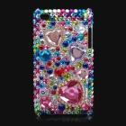 Shining Colorful Acrylic Diamonds Protective Plastic Back Case for iPod Touch 4