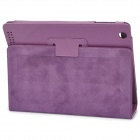 Stylish Protective Holder Leather Case for The New Ipad - Purple