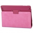 Stylish Protective Holder Leather Case for The New Ipad - Rose Red