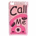 Fashion Call Me Pattern Acrylic Diamond Protective Back Case for Ipod Touch 4 - Pink