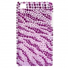 Fashion Acrylic Diamond Protective Back Case for iPod Touch 4 - Purple