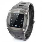 "TW818 GSM Wrist Watch Phone w/ 1.4"" Resistive, 1.3Mega Camera, Quad-Band and JAVA - Black"
