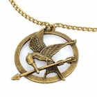 Zinc Alloy The Hunger Games Mockingjay Style Pendant  Necklace - Bronze