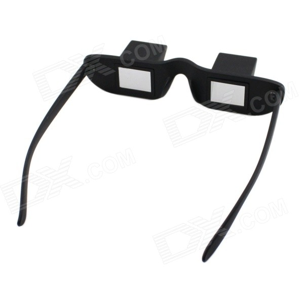 Novelty Bed Lie Down Periscope Glasses - Black