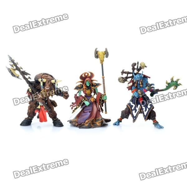 3-in-1 World of Warcraft WOW Resin Action Figure Display Set - Tauren + Witch Doctor + Warlock world of warcraft wow pvc action figure display toy doll forsaken queen sylvanas windrunner