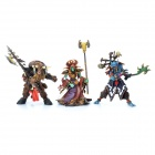3-in-1 World of Warcraft WOW Resin Action Figure Display Set - Tauren + Witch Doctor + Warlock
