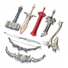 Set of 8 World of Warcraft WOW Zinc Alloy Weapons