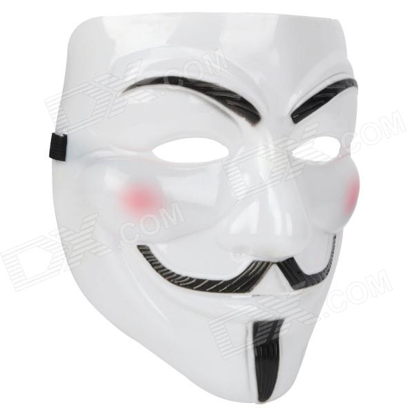 V for Vendetta Anonymous Guy Fawkes Plastic Mask - White ludlum r ludlum the lazarus vendetta