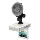 "2.4"" 5MP COMS HD 720P Car DVR with Night Vision/Motion Detection/G-sensor(White) + Rearview Camera"