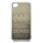 Batman Pattern Protective PV Back Case w/ Screen Guard for Iphone 4 / 4S - Silver