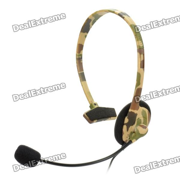 Headset w/ Microphone for Xbox 360 - Camouflage Grey от DX.com INT