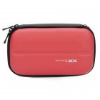 Dual Zippers Protective Hard Case Bag for Nintendo 3DS - Red