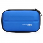 Dual Zippers Protective Hard Case Bag for Nintendo 3DS - Blue