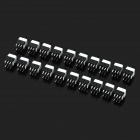 Mini 8.0mm 6-Pin Non-Locking Push Button Square Switches - Black (DC 30V / 20-Pack)
