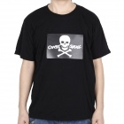 LED Sound and Music Activated Crazy Skull EL T-shirt - L (2 x AAA)
