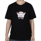 LED Sound and Music Activated Hell's Angel EL T-shirt - XL (2 x AAA)