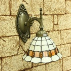 Tiffany Style Wall Light with Floral Pattern (220-240V)