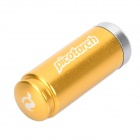 Pico-Torch Mini Waterproof White Light LED Flashlight Camping Lamp - Golden (4 x LR41)
