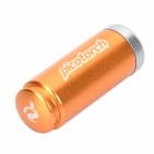 Pico-Torch Mini Waterproof White Light LED Flashlight Camping Lamp - Orange (4 x LR41)