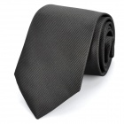 Casual Zip Up Tie Necktie - Black