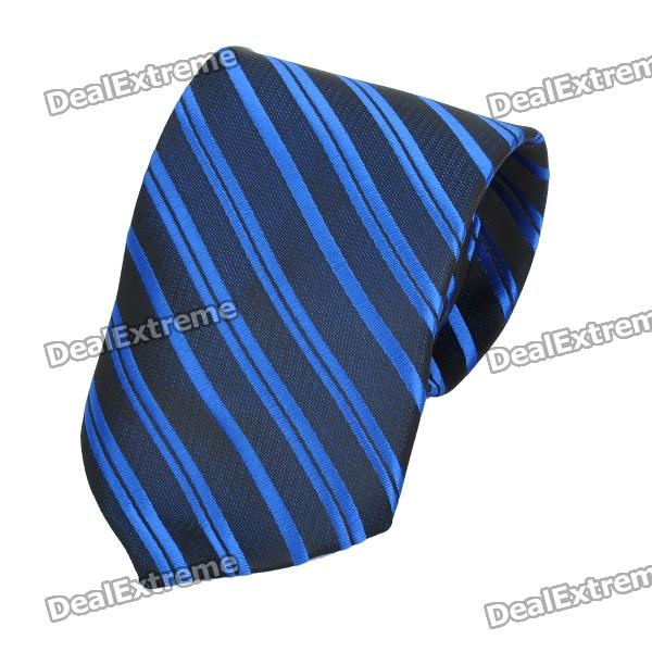 fashion-men-diagonal-striped-pattern-tie-deep-blue