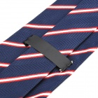 Fashion Men's Diagonal Striped Pattern Tie - Blue + Red